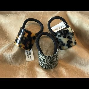 """NWT (3) Anthropologie """"France Luxe"""" Ponytail Cuffs"""
